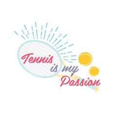 bright tennis design logo icon designprint badge vector image