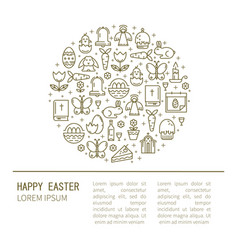 brochure with symbols of easter vector image
