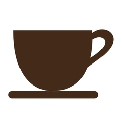 Brown coffee cup graphic vector