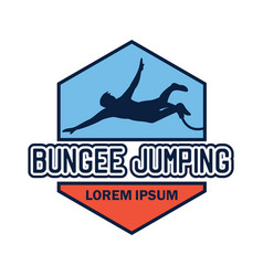 Bungee jumping logo with text space vector