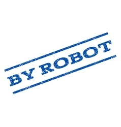 By robot watermark stamp vector