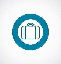 Case icon bold blue circle border vector