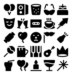 Celebration and Party Icons 8 vector