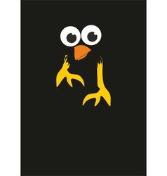 comic cartoon bird in the night vector image