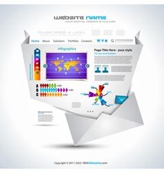 complex origami website vector image