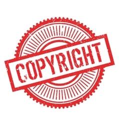 Copyright stamp rubber grunge vector