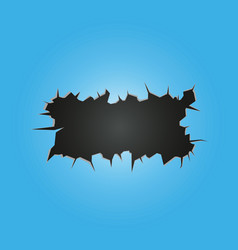 crack on blue background vector image