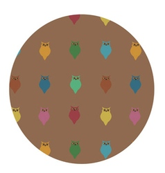 cute pattern of colorful owls vector image