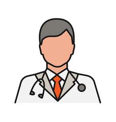Doctor color icon vector