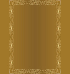 elegant amazing golden background with golden vector image