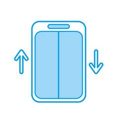 Elevator service isolated icon vector
