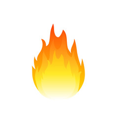 Flame fire icon heat ignite burn gas hot vector