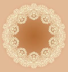 floral ethnic ornamental vector image