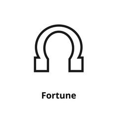 fortune line icon vector image