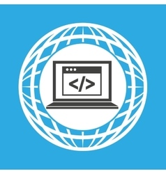 Globe computer web page code communication vector
