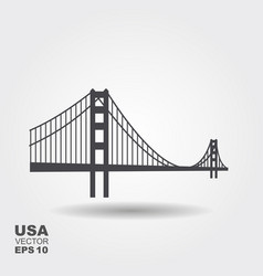 Golden gate bridge icon vector