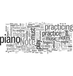 how to learn piano vector image