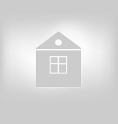 Icon house building vector