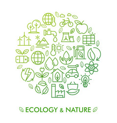 icon set ecology nature and zero waste vector image