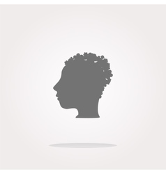 idea people head circle glossy wen icon vector image