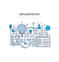 Implementation concept realization of ideas vector