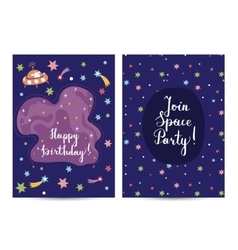 Invitation on Childrens Costumed Birthday Party vector