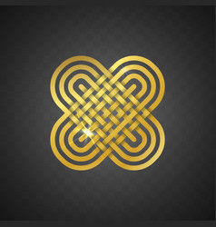 Isolated abstract golden logo on vector