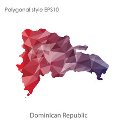 isolated icon dominica republic map polygonal vector image