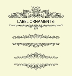 Label ornament 6 vector image