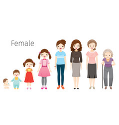 Life cycle of woman generations vector