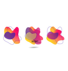 liquid freeform in yellow violet pink vector image