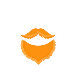 male beards and mustache isolated on white vector image