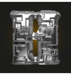 Metal figure h vector
