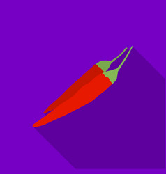 Mexican chili peppers icon in flat style isolated vector