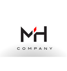 Mh logo letter design vector