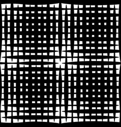 monochrome grid mesh with irregular lines vector image