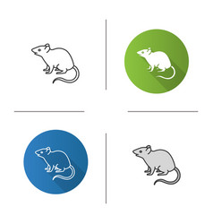 Mouse rat icon vector