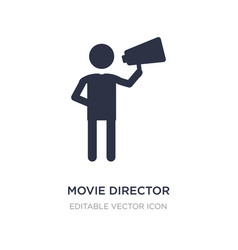 Movie director icon on white background simple vector