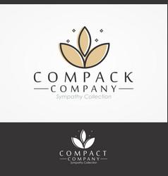 natural logo for branding in modern design vector image