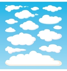 Pattern of white clouds isolated on blue sky vector