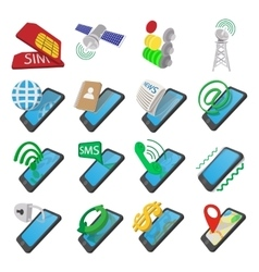 Phone cartoon icons vector