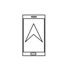 phone navigation icon vector image