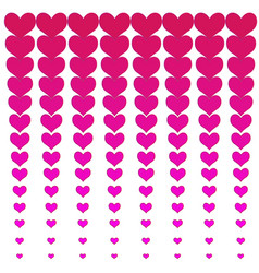 pink hearts background vector image