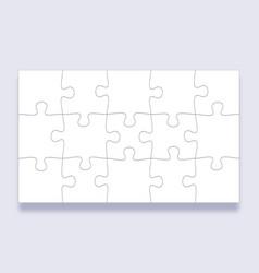 Puzzle pieces grid jigsaw tiles mind puzzles vector