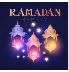 Ramadan kareem greeting islamic holiday design vector