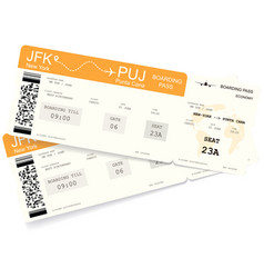 Realistic variant of boarding pass ticket vector