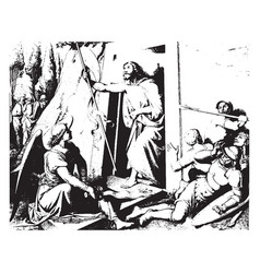 Resurrection is a painting johann overbeck vector