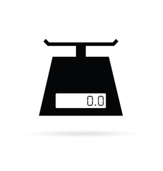 scales digital for food in black vector image