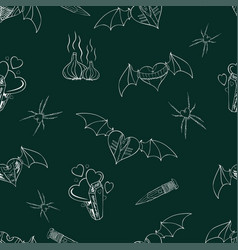 seamless contour pattern with a theme of vampires vector image