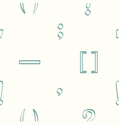 Seamless pattern with punctuation marks vector